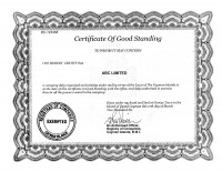 Certificate of Good Standing, Cayman Islands
